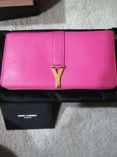 YSL fuchia wallet preloved
