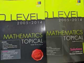 🚚 O Level E Math TYS + Answer booklet