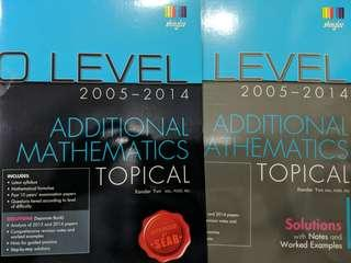 O Level Additional Maths Topical + Answer booklet