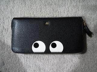 Anya hindmarch black preloved wallet