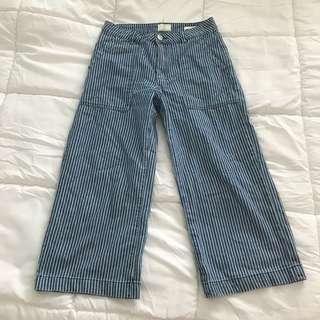 🚚 Cotton On striped Denim culottes