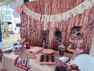 LOL Theme - Birthday Dessert Table