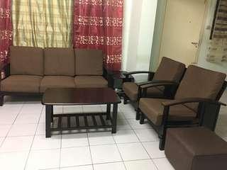 🚚 Sofa set 3+1+1 , with coffee n side table
