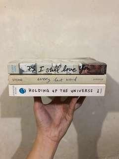 Set of 3 Books (P.S. I Still Love You, Holding Up The Universe, Every Last Word)
