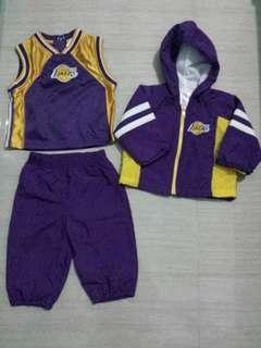 NBA LA Lakers jersey set 12 months