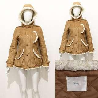 Bizazz suede leather winter coat / jacket