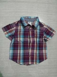 Old navy plaid polo 6-12 months