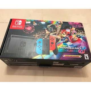 Nintendo Switch Mariokart8 Deluxe Edition full set with Warranty & Receipt (No Game)