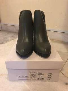 Dr Cardin Leather Ankle Boots (Emerald Green)