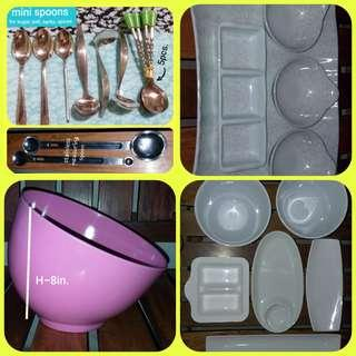ASSORTED KITCHEN PLATES, BOWLS, TRAYS