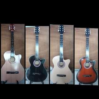 Gitar akustik biasa (sudah tanam besi)