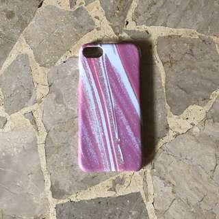 Hardcase Pink Gradient Glitter iPhone 7