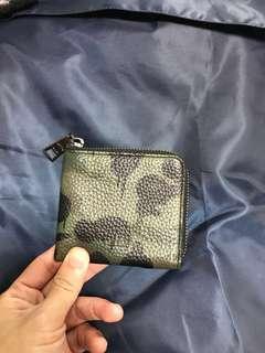 Authentic Coach Camo Print Wallet