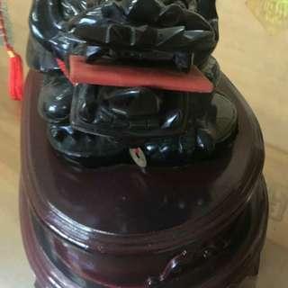 🚚 黑膻石 龍龜附底座 (不包含紅包)百貨公司附照片