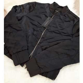 Dynamite Black Quilted Bomber Jacket XS