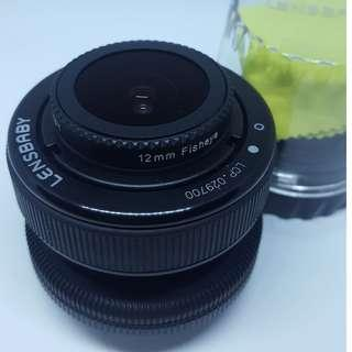 Lensbaby Composer Pro with Double Glass optic and Fisheye lens
