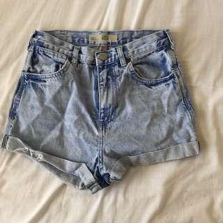 Topshop Denim High waisted shorts