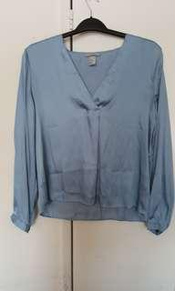 H&M Light blue colour blouse