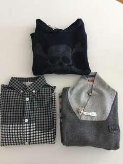 Boy H&M Cotton Sweater Sweatshirt Shirt 男童 毛衣 襯衫