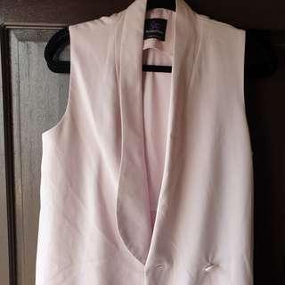 Plains and prints blush pink sleeveless long coat