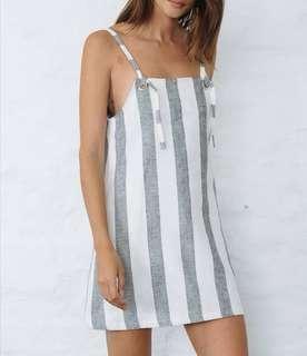 Nice Martin Jace Linen Dress in Stripe - Size 10 RRP $180