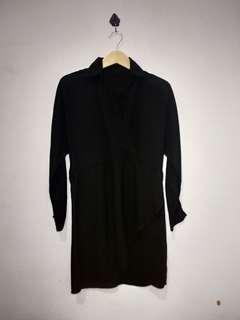 [Reprice] Black Kimono Mididress