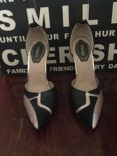 Black & Gold High Heels