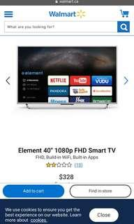 "40"" Element Smart TV (almost new)"