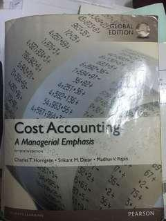 🚚 Cost accounting a mangerial emphasis