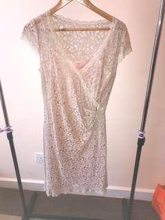 Beige/light brown lace dress