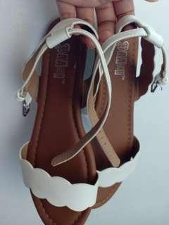 SALE TODAY!! Payless Brash white sandals US6