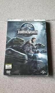 Dvd Jurassic World.