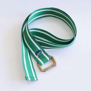 Roots green fabric belt
