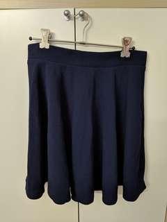 Navy Skater Skirt small/medium