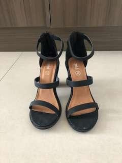 Rubi Black Block Heels