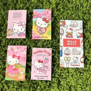Sanrio Original Hello Kitty set of 5 paper money envelope