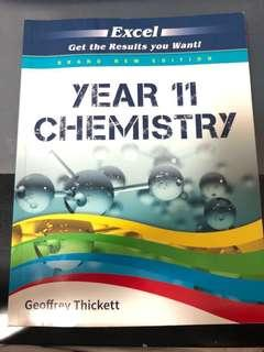 Year 11 Chemistry Excel Textbook (new syllabus 2018*)