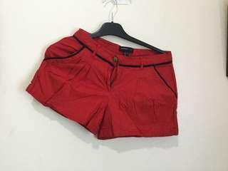 Mango Red Shorts