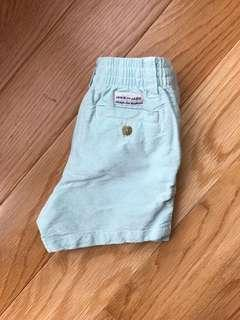 Janie and Jack Mint Preppy Shorts