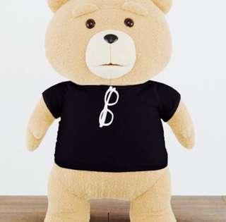 Ted 2 - Glasses Black T-Shirt Plushy XL Premium