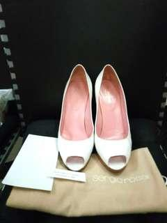 💯 Authentic Sergio Rossi White High Heels Shoes