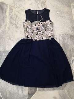 BNWT Little Mistress Blue Dress #mhb75