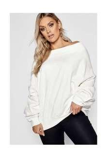 Boohoo oversized balloon jumper 💋
