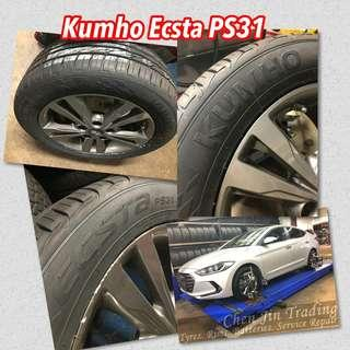 Kumho Car Tyres promotion, value for money, best buy, new tyre arrival, Ecsta, Solus, Ecowing, PS31, KH27, PS71, PS91, HP91, TA31, HS51 many sizes available