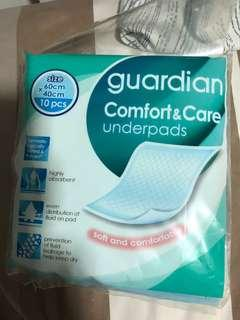 🚚 Guardian comfort and care Underpads