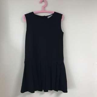 Zara dress little black dress work graduation dress斯文裙