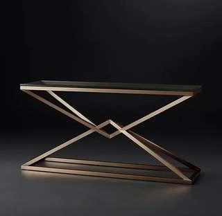 Contemporary Stainless Steel Console