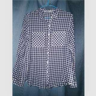 Cotton On Blue Checkered Flannel