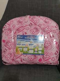 Pink Comforter with Mosquito Net