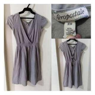 SALE preloved XS Aeropostale overlap gray cotton dress